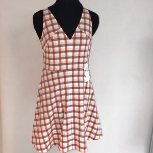 ANEWDAY Plaid Summer Dress NWT